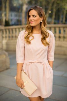 Gal Meets Glam: Light Pink Bow Dress
