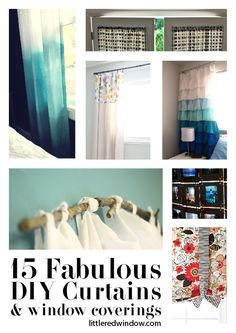 15 Fabulous DIY Curtains, Shades & Window Coverings you can make yourself! - littleredwindow.com