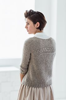 Coda by Olga Buraya-Kefelian, part of Brooklyn Tweed Wool People 7 collection One seam pullover with interchangeable front and back
