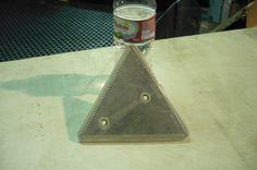 Reflectario triangulo blanco #GEMO 135mm $5