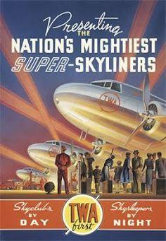 TWA SUPER SKYLINERS poster
