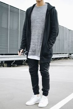 Change joggers for black pants