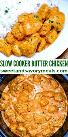 Vegetarian Crockpot Recipes, Crockpot Dishes, Slow Cooker Recipes, Cooking Recipes, Roast Recipes, Slow Cooker Appetizers, Slow Cooking, Crockpot Meals, Indian Butter Chicken