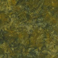 Island Batik Hand Printed Cotton - Agave Gold SP17-F1