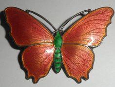 Beautiful Art Nouveau Sterling Silver Enamel Butterfly Probably John Atkins | eBay