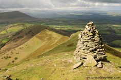 Pen y Fan in the Brecon Beacons of South Wales. Pen y Fan is the highest peak in Britain south of the Snowdonia mountain's in North Wales.