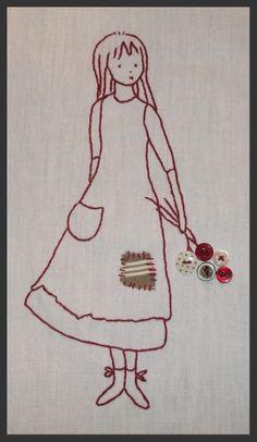 Mon coup de coeur de ce début d'année, d'après un dessin de Mathilde Brode. Merci Mathilde elle est adorable.