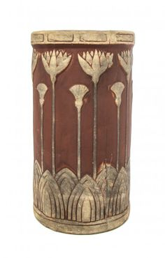 An Arts and Crafts Pottery Umbrella Stand, Brush McCoy