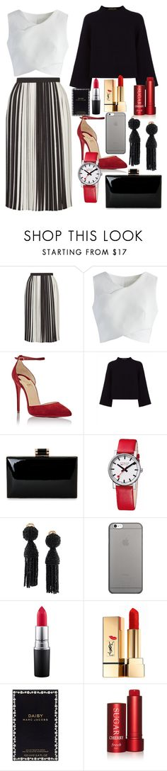 """""""Madeline's Creations"""" by maddy-x01 on Polyvore featuring Topshop, Chicwish, Christian Louboutin, Jaeger, Mondaine, Oscar de la Renta, Native Union, MAC Cosmetics, Yves Saint Laurent and Marc Jacobs"""