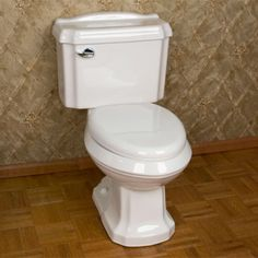 Traditional Decorative Siphonic Two-Piece Elongated Toilet - White - Toilets and Bidets - Bathroom