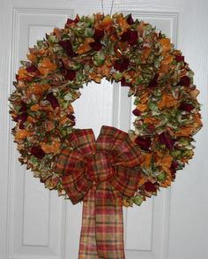 Harvets Time Fall Thanksgiving Fabric Wreath