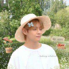 Bts, Taehyung, Crochet Hats, Kpop, Wallpaper, Cottage, Icons, Random, Green