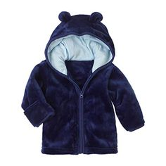 b632b8fee4b9 Baby Infant Girls Boys Autumn Winter Cute Ear Hooded Coat Jacket Thick Warm  Outwear Coat for 0-24 Months