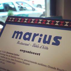 Marius, twin restaurant Wijncafe Worst. Lovely daily menu's