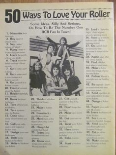 Bay City Rollers, Full Page Vintage Clipping...lol I remember this!