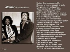 """""""Mother"""". A poem by Michael Jackson"""