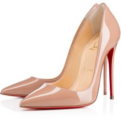 Christian Louboutin So Kate (€595) ❤ liked on Polyvore featuring shoes, pumps, heels, christian louboutin, louboutin, nude, sexy pumps, pointed-toe pumps, christian louboutin pumps and nude heel shoes