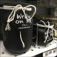 Hand-lettered Chalkboard Jar Self-Promotion