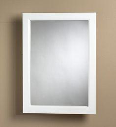 Zenith White Frame Medicine Cabinet at Menards