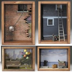 Alphabet Aviaries: Shadowboxes by David Montgomery