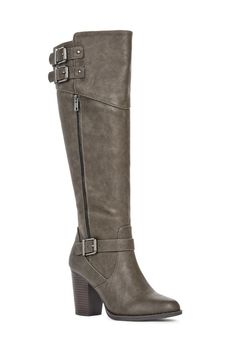 Live life in the luz, a sophisticated heeled boot. It features buckle details…