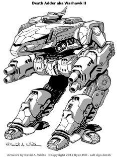 Death Adder Mech (Warhawk II) by Mecha-Zone on DeviantArt