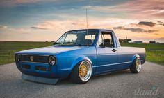 Built to drive: The Dub Dynasty 1981 VW Caddy Volkswagen Golf Mk2, Volkswagen Caddy, Vw Mk1 Rabbit, Vw Rabbit Pickup, Vw Pickup, Vw Caddy 1, Chevy, Vw Cabrio, Vw Scirocco