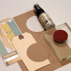 manila shipping tags, scallops, misting and stamping...makes for tons of cute ideas!