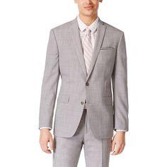 nice Bar III 7756 Mens Grey Lined Slim Match Two-Button Blazer Jacket 42L BHFO