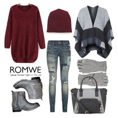 """""""My ROMWE red sweater"""" by beautifulgirlsblog ❤ liked on Polyvore featuring T By Alexander Wang, Polo Ralph Lauren, Calypso St. Barth, Topshop and Jeffrey Campbell"""