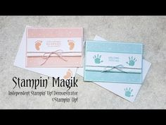First Steps Baby Card ~ Stampin' Up! Baby Shower Card Sayings, Baby Shower Cards, Baby Boy Cards, New Baby Cards, Rubber Stamping, Stamping Up, Shower Bebe, Step Cards, Baby Kind