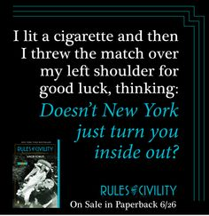 Doesn't New York just turn you inside out? #RulesofCivility