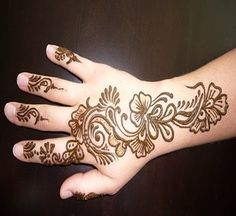 Front and Back Hand Mehndi Designs Collection 2013 #Fashion
