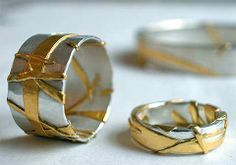 Dorothee Eymess, rings, 925 silver, fine gold.