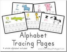 Printable Alphabet Pages