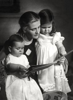 Helga and Hilde Goebbels with their mother