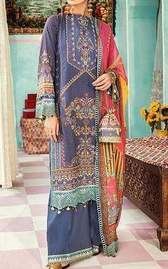 Navy Blue Lawn Suit   Buy Rang Rasiya Pakistani Dresses and Clothing online in USA, UK