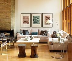 what goes above the sofa… groupings of art | Design Manifest