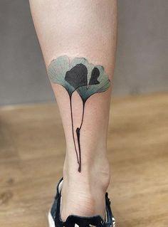 Chen Jie Newtattoo ginko leaves