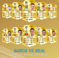 Barca vs Real in fifa 16 Who is better