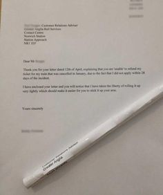 This complaint letter. | 37 Things You'll Only Find Funny If You're British