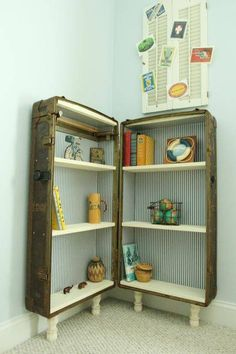 Timeless and Treasured Antique Trunk Bookshelf