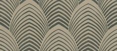 Deco (60768) - Harlequin Wallpapers - A strong art deco inspired architectural design of large petals or cones, with metallic detail.  Available in 6 colours – shown in charcoal grey and silver gold.  Please ask for sample for true colour match.