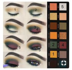 beautiful palette and beautiful colors to create different looks