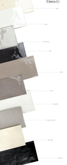 Glanzende wandtegels 10 x 40 cm, mooie serie op Cersaie 2015