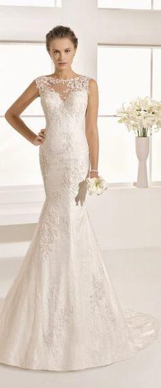 gefunden bei HAPPY BRAUTMODEN         Brautkleid Hochzeitskleid edel elegant romantisch spanisch Rosa Clara RosaClara fließender Rock Spitze
