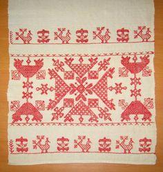 käspaikka - Google Search Russian Embroidery, Folk Embroidery, Embroidery Patterns, Star Patterns, Folklore, Scandinavian Design, Blackwork, Finland, Needlework