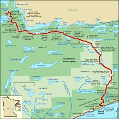 Gunflint Trail Scenic Byway - Map   America's Byways