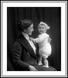 +~+~ Antique Photograph ~+~+  Love the joy between this beautiful Mother and her child