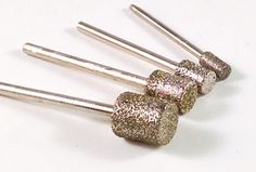 Diamond Coated Cylinder Burrs from Eternal Tools. 4mm - 10mm.  These are great for carving and sculpting in stone, glass, bone, shell and hard wood.  If you've already tried our Ball burrs you'll know these are going to be just as good. Give em' a try! http://www.eternaltools.com/large-diamond-cylinder-burrs/